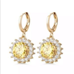 Jewelry - 18K GF sapphire earrings